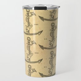 Aldus Manutius Printer Mark Travel Mug