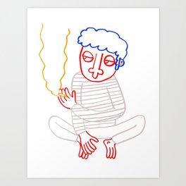 Good Guy Smoking Art Print