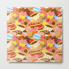 Wall of Cakes Metal Print