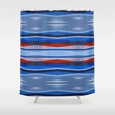 Highwayscape3 Shower Curtain