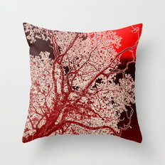Surreal Red Harmony Throw Pillow