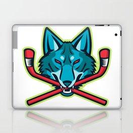Coyote Ice Hockey Sports Mascot Laptop & iPad Skin