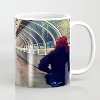 onward Mugs featuring Onward Into The Tunnel Forbidden  by AJ Calhoun