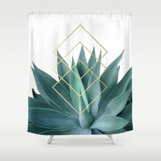 Agave geometrics Shower Curtain