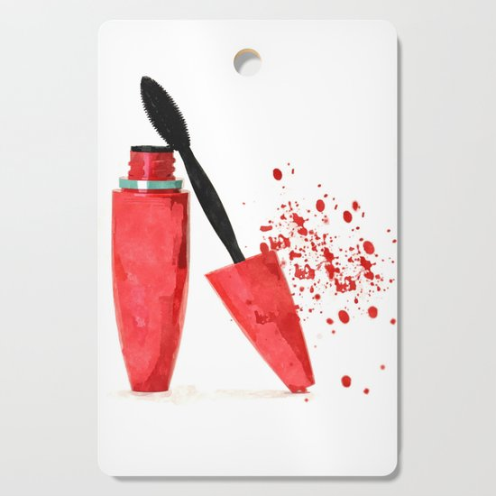 Red mascara fashion watercolor illustration by alemi