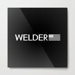 Welder: American Flag Metal Print