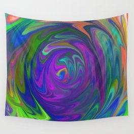 Color Tunnel Wall Tapestry