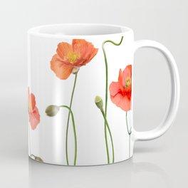seamless pattern with Red Poppy Flowers Coffee Mug
