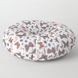 Mosaic of Bugs Floor Pillow