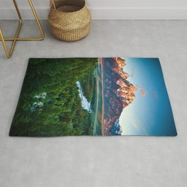 Snake River and the Grand Titan Mountains color photography / photographs / photograph Rug
