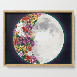Flower Moon Serving Tray