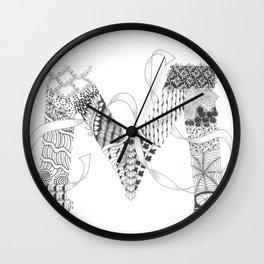 """Zenletter """"M"""" Wall Clock"""