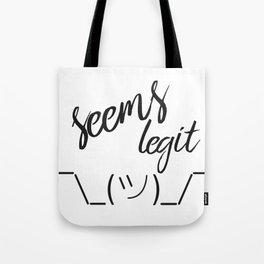 Seems Legit - Plain Tote Bag