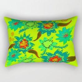 Sky Blue Blossoms Rectangular Pillow