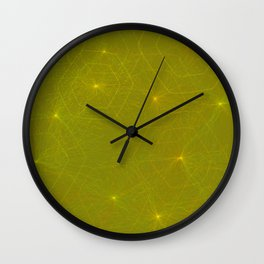 Fireflies and Filaments Wall Clock