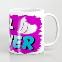 girl power Mugs featuring GIRL POWER  by Robleedesigns
