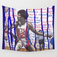 nba Wall Tapestries featuring NBA PLAYERS - Julius Erving by Ibbanez