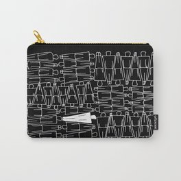 UNIQUENESS in Black Carry-All Pouch