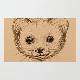 Baby Mongoose Sketch Rug