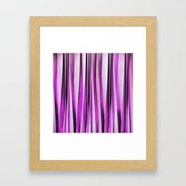 Lavender, Iris and Grape Stripy Pattern Framed Art Print