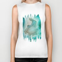 clock Biker Tanks featuring THE BEAUTY OF MINERALS 2 by Catspaws