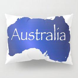 Australia Map Pillow Sham