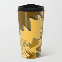 Shades of Brown Waves Travel Mug