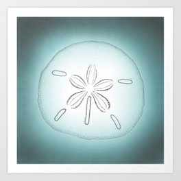 Sand Dollar Blessings - Pointilist Art Art Print