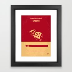 No348 My Casino minimal movie poster Framed Art Print