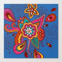 henna Canvas Prints featuring Henna Colour by nicky9