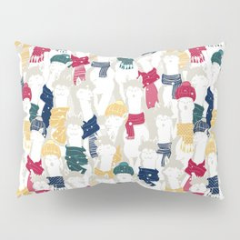 Happy llamas Christmas choir Pillow Sham