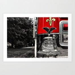 Fire Truck Bell Art Print