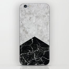 Concrete Arrow Black Granite #844 iPhone Skin
