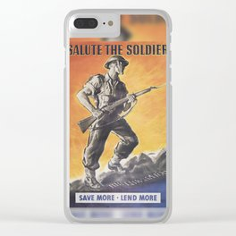 The Liberator, Reprint of wartime Poster Clear iPhone Case