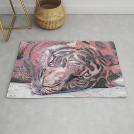 """Le Tigre Violet"" :: The Purple Tiger Rug"