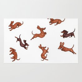 Wiener Doggies Rug