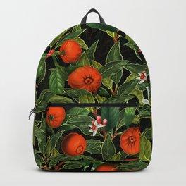Vintage Exotic Midnight Oranges Botanical Garden Backpack