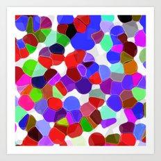 Sea Glass Palette Art Print