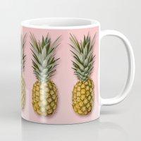 pineapple Mugs featuring Pineapple by Marta Li