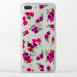 Ava Floral Peach Clear iPhone Case