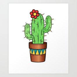 Cactus Gardener Funny Plant Gift Art Print