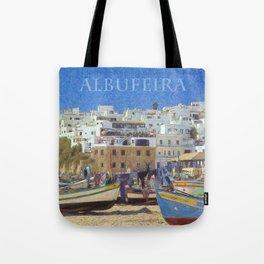 Albufeira fishing boats, Portugal Tote Bag
