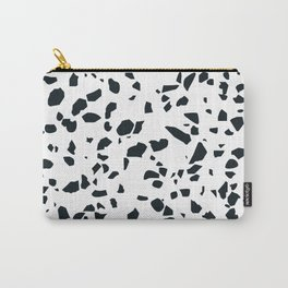 Black and white Terrazzo Asteroids Carry-All Pouch