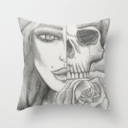 Inner and Outer Beauty Throw Pillow