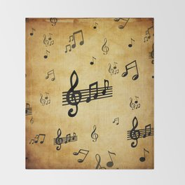 Music Notes Throw Blanket