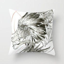 WARBONNET Throw Pillow