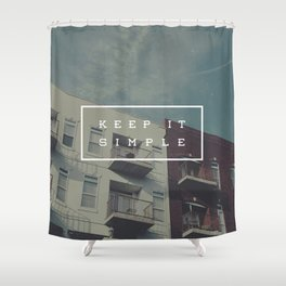 Keep It Simple Shower Curtain