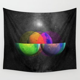 Venn Diameter - Square Wall Tapestry