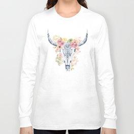 Flowers Longhorn Long Sleeve T-shirt