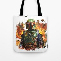 boba Tote Bags featuring Boba Fett by ururuty